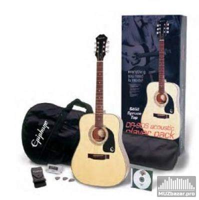 EPIPHONE PLAYERPACK DR-90 ACOUSTIC NAT CH HDWE